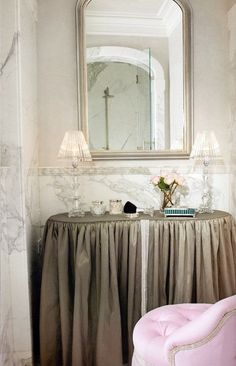 slirted dressing table | Dressing Table - Skirted Table #Closets #DressingRooms | CLOSETS