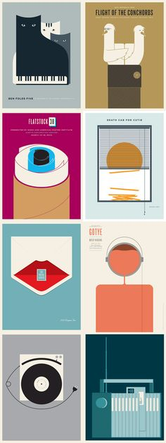 Gig Poster Illustrations. Jason Munn is an illustrator and graphic designer originally from Wisconsin, but nowadays he lives in Oakland, CA. Jason Munn spe