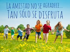 La amistad no se agradece Tan sólo se disfruta. @Candidman #Frases Amistad Candidman Reflexión @candidman