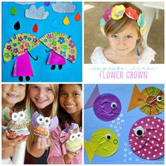Creative Cupcake Liner Crafts for Kids to Make - Crafty Morning
