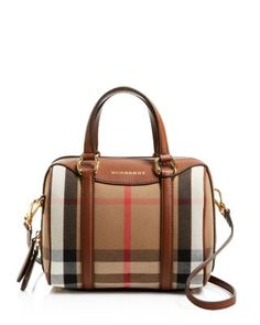 Burberry Small House Check Alchester Bowling Satchel Handbags - Premium  Designers - Bloomingdale s 23a394913bca5