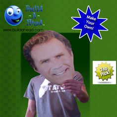 Customizable giant head cut-outs. Perfect for parties, sporting events, and graduations. Only at BuildAHead.com!
