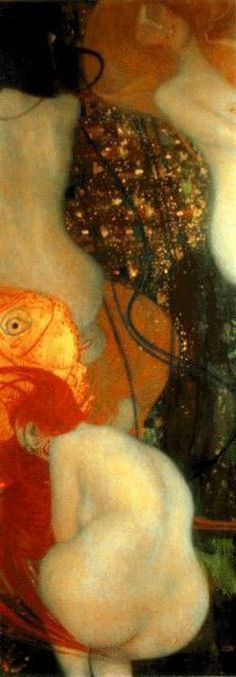 Gustav Klimt >> Goldfish | (Oil, artwork, reproduction, copy, painting).