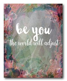 Look what I found on #zulily! 'Be You!' Gallery-Wrapped Canvas #zulilyfinds