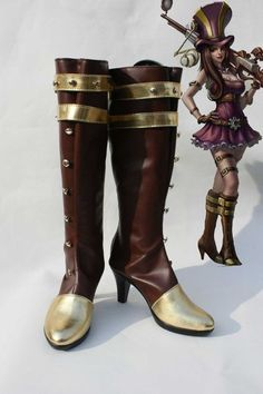 "League of Legends LOL Hero Caitlyn Cosplay Shoes Boots ""Custom-made"""