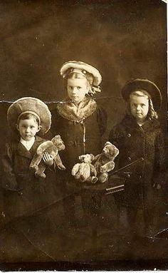 Children with their teddies