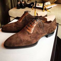 Handmade Tan Crocodile & Brown Suede Leather Shoes for Men, Men Lace Up Dress Formal Shoes Upper: High Quality Leather & Suede Inner: soft leather Sole: Leather Gender: Male Heel: Leather Style: Derby Shoes, Lace Up Color: Ta Lace Up Shoes, Men's Shoes, Shoe Boots, Dress Shoes, Shoes Men, Suede Leather Shoes, Leather And Lace, Leather Art, Leather Fringe