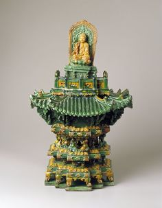 Tilework's Model of Sancai Pagoda  Artist Unknown. Ming dynasty