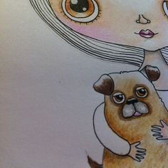 WIP new character and her pup by Heidi M Mcdonald, via Flickr