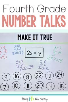 Your fourth grade students are going to absolutely love these digital number talks. The are oh so fun for students to engage in, and super easy for teachers to implement. Grab your set today and sit back and watch as your students' problem solving skills soar to new heights! #fourthgradenumbertalks #4thgradenumbertalks #mathtalksfourthgrade First Grade Lessons, Teaching First Grade, First Grade Math, Fourth Grade, Math Lessons, Math Fact Practice, Math Talk, Math Fact Fluency, Number Talks
