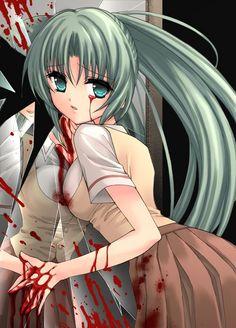 Anime Kida animekida blood gore higurashi no naku koro ni broken mirror animekida blood go
