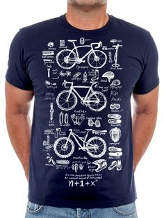 Bike Maths. The correct number of bikes is N + 1. Original new tee design from Cycology