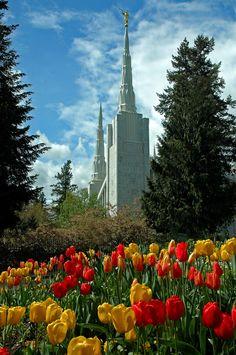 Portland Oregon Temple of The Church of Jesus Christ of Latter-day Saints. #LDS #Mormons