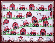 "7/8"" red tractors ribbon"