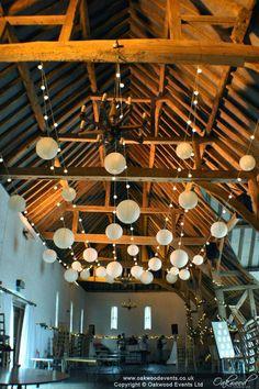 Festoon single swag canopy with ivory lanterns at Ufton Court. Indoor Wedding Receptions, Wedding Venues, Festoon Lights, Single Swag, Wedding Styles, Wedding Ideas, Swag Light, 18th Birthday Party, Wedding Lighting