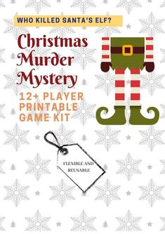 Who Killed Santa's Elf? // Christmas Murder Mystery //Printable Holiday Games // Christmas in July / //Christmas party Elf Christmas Decorations, Christmas Games For Kids, Holiday Games, Christmas Party Games, Christmas Activities, Toddler Christmas, Thanksgiving Games, Office Christmas, Christmas Elf