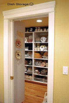 OK!  Next house, I want a dish room!  This very lucky woman has a 9' x 14' dish room that was added to their home by her husband!