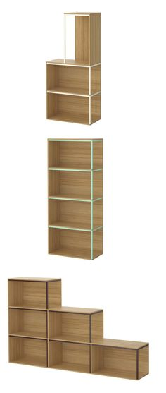 IKEA PS 2014 storage modules. Create your own unique combination for storage and display by combining modules and lids any way you like. Designer:Tomás Alonso