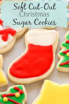 These Christmas cookies from Live Well Bake Often are the best soft cut-out sugar cookies you will ever try. These delicious cookies are decorated with an EASY icing. The cookies are perfect for icing and perfect for the Christmas holiday season! #cookies #sugarcookie #Christmascookies #classicsugarcookie #cookiedecorating #cookierecipe #holidaycookies #christmasdesserts Christmas Cookie Exchange, Christmas Sugar Cookies, Holiday Cookies, Holiday Desserts, Fun Desserts, Best Christmas Recipes, Christmas Goodies, Christmas Baking, Christmas Holiday