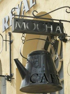 Cafe sign. My kind of coffee shop.                                                                                                                                                      More