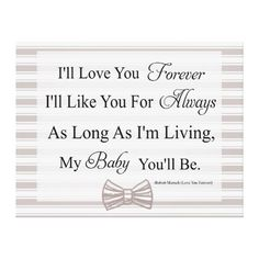 I'll Love You Forever Baby Quote Canvas Print Nursery Quotes, Baby Quotes, Quotes For Kids, Quotes Children, Nursery Art, Canvas Quotes, Wall Art Quotes, Quote Wall, Wall Décor