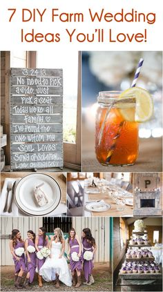 7 Farm Wedding Ideas You'll Love! Visit: jophotoonline.com...