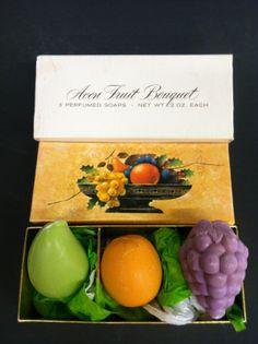 Vtg Avon Fruit Bouquet Collectible Hostess Decorative Soaps New 1960'S | eBay