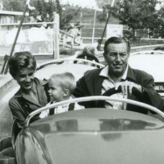 Walt Disney with his daughter, Diane Disney Miller and his Grandson, Christopher Disney Miller.