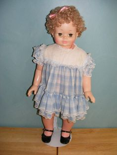 "1978 Eugene 1078 53100 30"" 2 Year Old Baby Doll w Stand Hard Plastic HP 