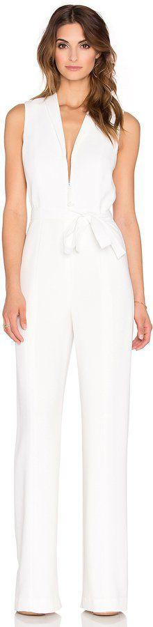 """Pin for Later: 30 elegante Jumpsuits, die jedes Cocktailkleid ersetzen Elizabeth and James """"Meredith"""" weißer Jumpsuit mit Ausschnitt und Gürtel (455 €)"""