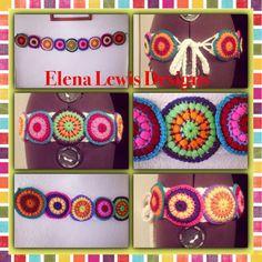Super gemacht-Technicolor-Medaillon Gürtel  von ElenaLewisDesigns