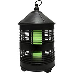 Solar Zen Round Birdcage with Green Light. This Solar Zen Birdcage is made from durable bamboo. It is art sculpture by day - light by night. Unique internal solar module for a clean, neat, sophisticated look. #lantern #zen