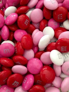 Pink and Red M&M's ~ For Valentine's Day