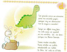 AULA DE ILUSIONES: Algunas poesías sobre dinosaurios Fictional Characters, Read And Write, Nursery Rhymes Preschool, Dinosaur Activities, Dinosaurs, Fantasy Characters