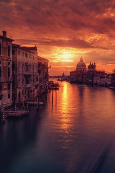 First Light in Venice, Italy