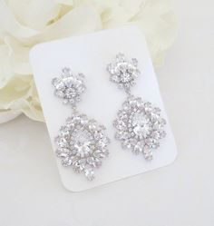 Bridal earrings Crystal Wedding earrings by TheExquisiteBride