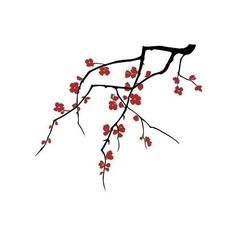 cherry blossoms (dual colour) - large - wall decals : product :... ($69) ❤ liked on Polyvore