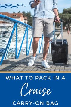 What to Pack in Your Cruise Carry-On Bag - If you are taking your first cruise, find out the 10 essential items you need to pack in your cruise carry-on bag.