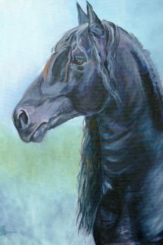Keegan. Horse art print.  on Etsy, $35.00