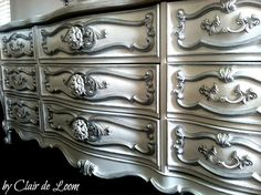 Ornate French Provincial Dresser by Clairedeloom on Etsy, $975.00