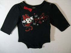 Disney Baby Girl Size 6 Months One Piece Black Short Sleeve Everyday Cotton Cheap Baby Stuff, Baby Disney, Black Shorts, 6 Months, One Piece, Sleeve, Cotton, Clothes, Fashion