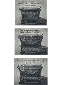 Vintage Typewriter Fine Art Photography, Gift Idea for Writers, Hemingway, Twain, Stephen King, Typography, Writing Quote, Customizable, by KEnzPhotography on Etsy