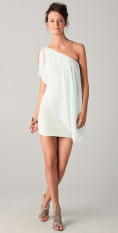 Alice & Olivia Draped One shoulder