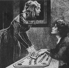 Find images and videos about ghost and ouija on We Heart It - the app to get lost in what you love. Ouija Board History, Mystique, Fortune Telling, Arte Horror, Horror Art, Vintage Halloween, Magick, Witchcraft, Dark Art