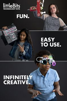 With each littleBits kits, you'll get all the bits needed to create unique inventions in a snap! Perfect for all ages and education levels.