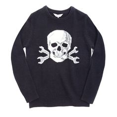 Deus Ex Machina - Men's Tapestry Skull Sweater....  Founded in 2006, Deus Ex Machina hail from Australia. Originally launching with customised motorcycles, the guys at Dues Ex quickly developed a clothing range and we're glad they did. #deusexmachina #ronrobinson #fredsegal #skull #mens #sweater