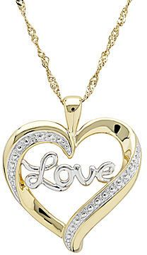 Httpcheunestore diaura 14k gold plated sterling silver jcpenney fine jewelry diamond accent 14k gold over sterling silver love heart pendant aloadofball Image collections