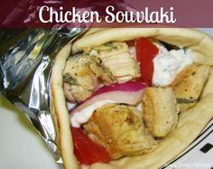Saucy Jocey's Kitchen: Chicken SouVlaki stars ,, ok I Love Food, Good Food, Yummy Food, Yummy Treats, Greek Dinners, Chicken Souvlaki, Sandwiches, Clean Eating, Healthy Eating