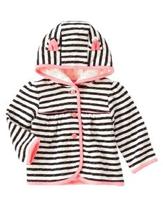 Gymboree Girls 12-18M Quilted Kitty Ears Hoodie $33 #Gymboree #Jacket #Everyday