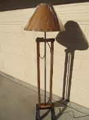 Cow stanchion floor lamp